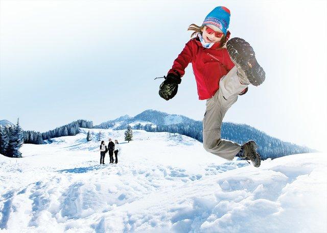 Winterfreuden auf den zahlreichen schneebedeckten Gipfeln.