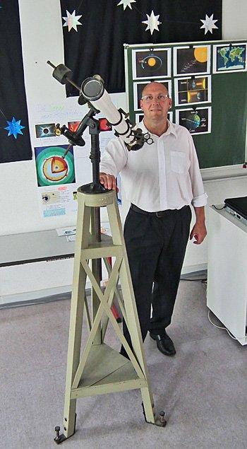 Henning Märtens blickt gern zu den Sternen.
