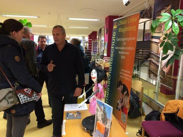 Schulmesse in der Stadtbibliothek Magdeburg