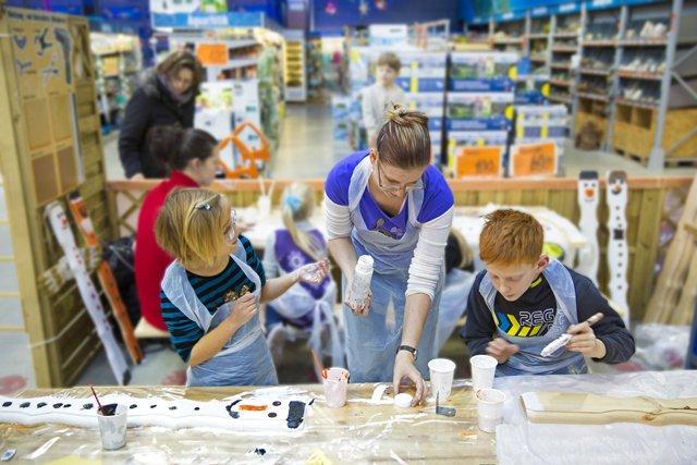 Kinderwerkstatt bei Hornbach