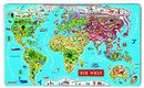 Magnet-Puzzle Weltkarte