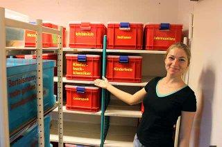 Medienboxen der Stadtbibliothek