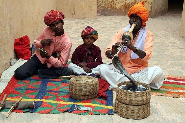 Schlangenbeschwörung in Rajasthan