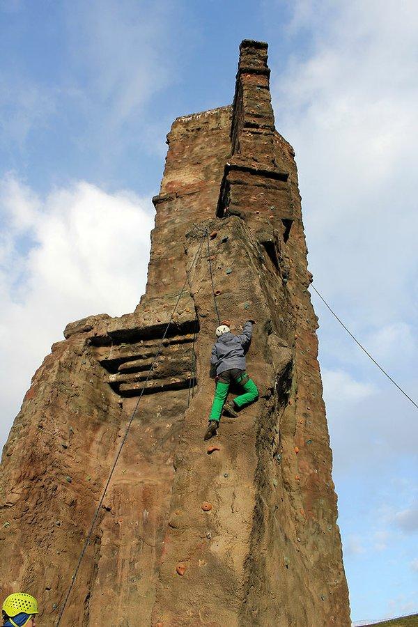 Klettern im Elbauenpark
