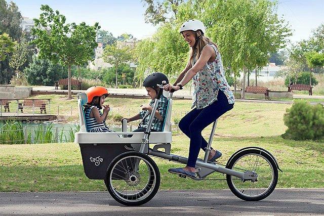 Bike Carry  Kids And Dog