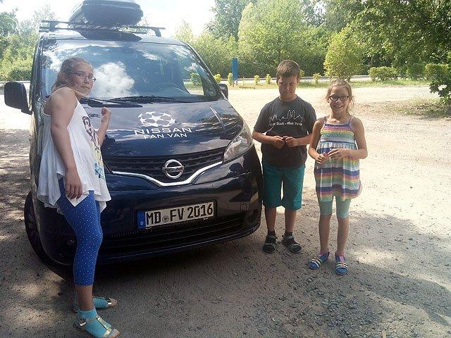 Familie Wolter test den Nissan NV 200