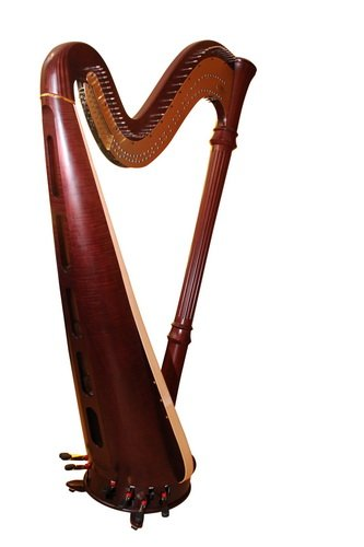 Schwergewicht eine Harfe wiegt um die 40kg.
