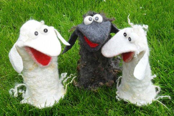 Schafe aus Filz...