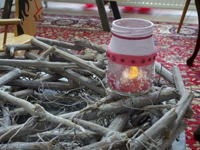 glitzernder Teelichterhalter