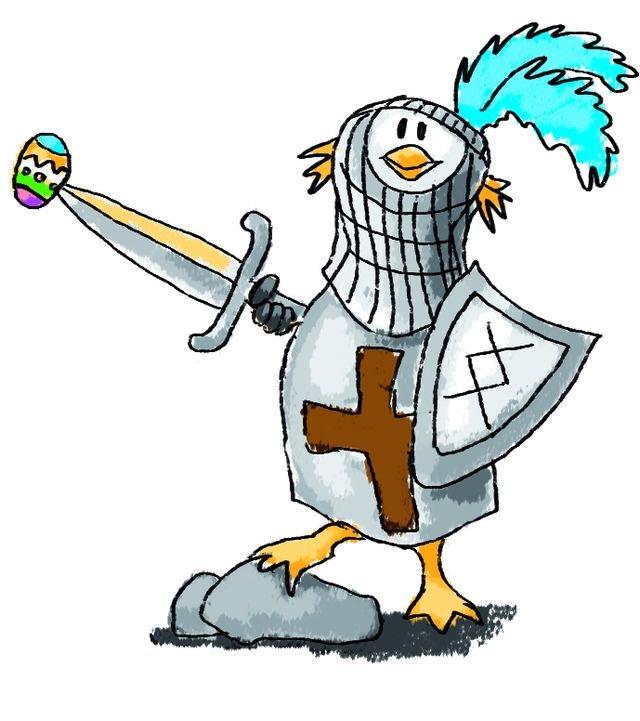 Pinguin als Ritter