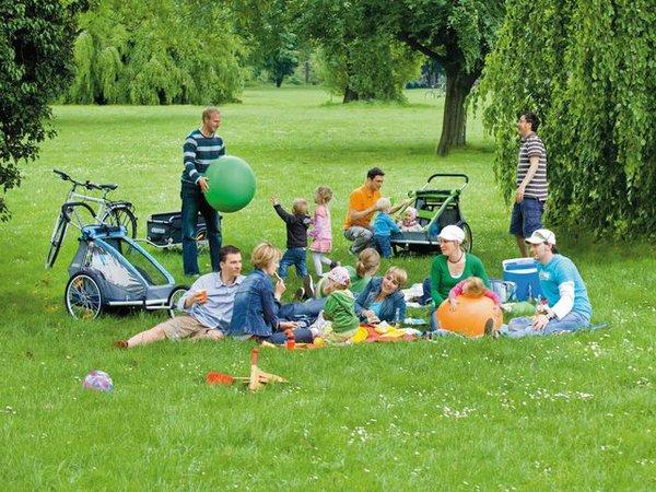 Picknick auf der Fahrradtour