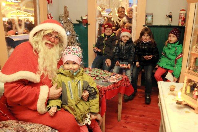 Der Weihnachtsmann vom Magdeburger Weihnachtsmarkt