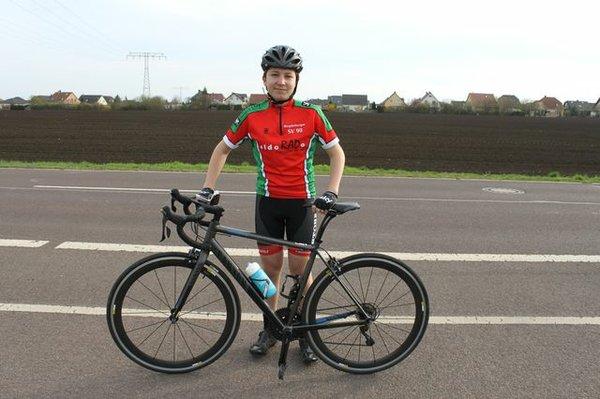 Matteo vom MSV 90 fährt Radrennen