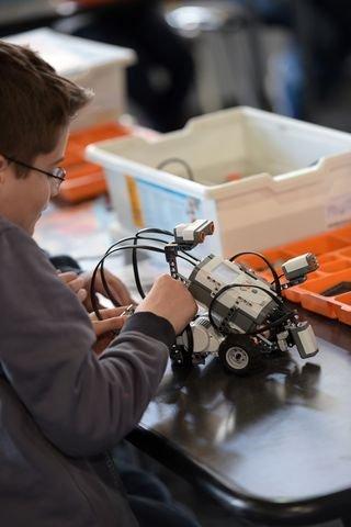 Roboterkurs bei q-fin