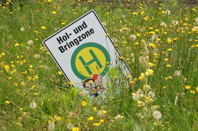 Hol- und Bringzone