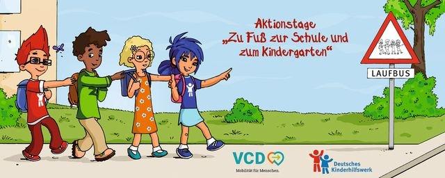 Aktionstag Zu Fuß zur Schule und in die Kita