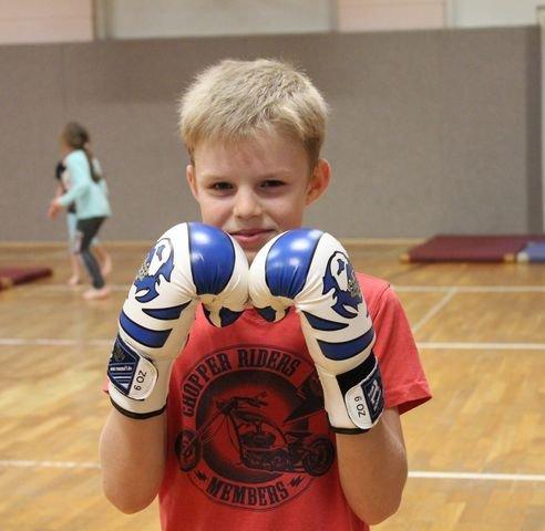 Danilo trainiert Kickboxen