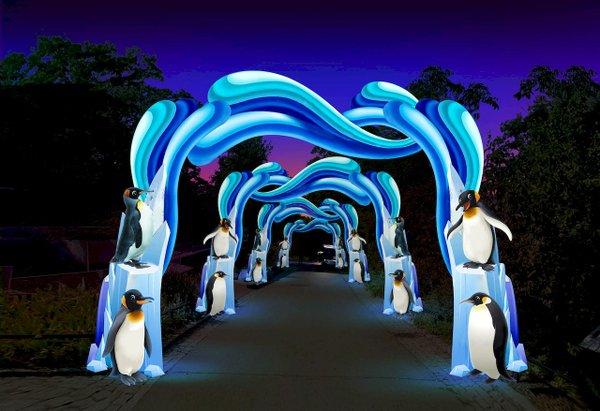 Magische Lichterwelten ím Zoo Halle