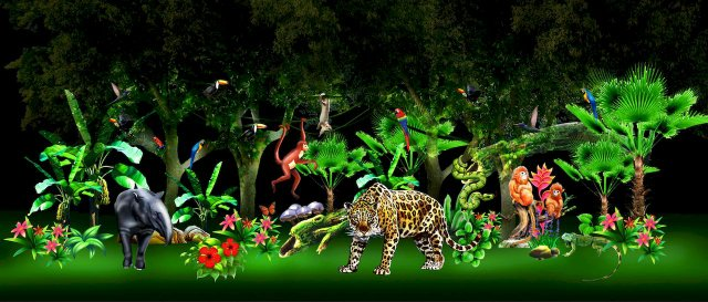 Magische Lichterwelten im Zoo Halle