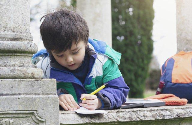 Junge, der schreibt