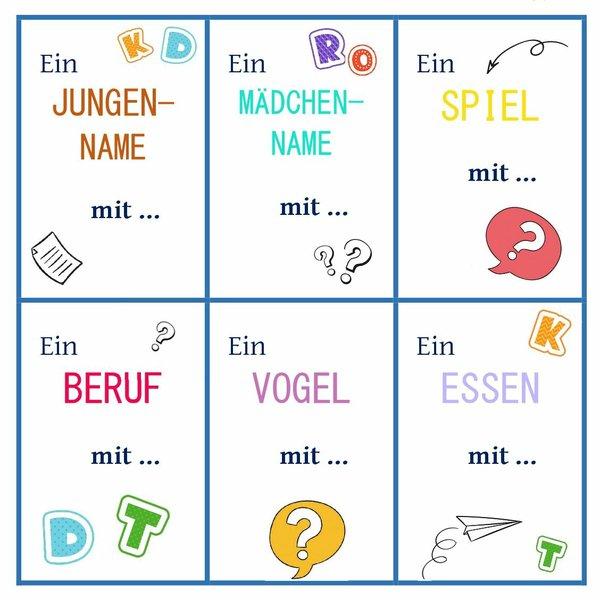 Wörterraten Spielkarten