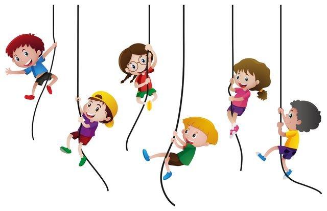 Kinder hangelnd