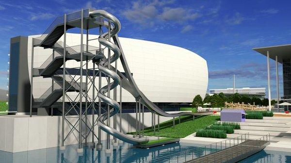 Riesenrutsche in der Autostadt Wolfsburg